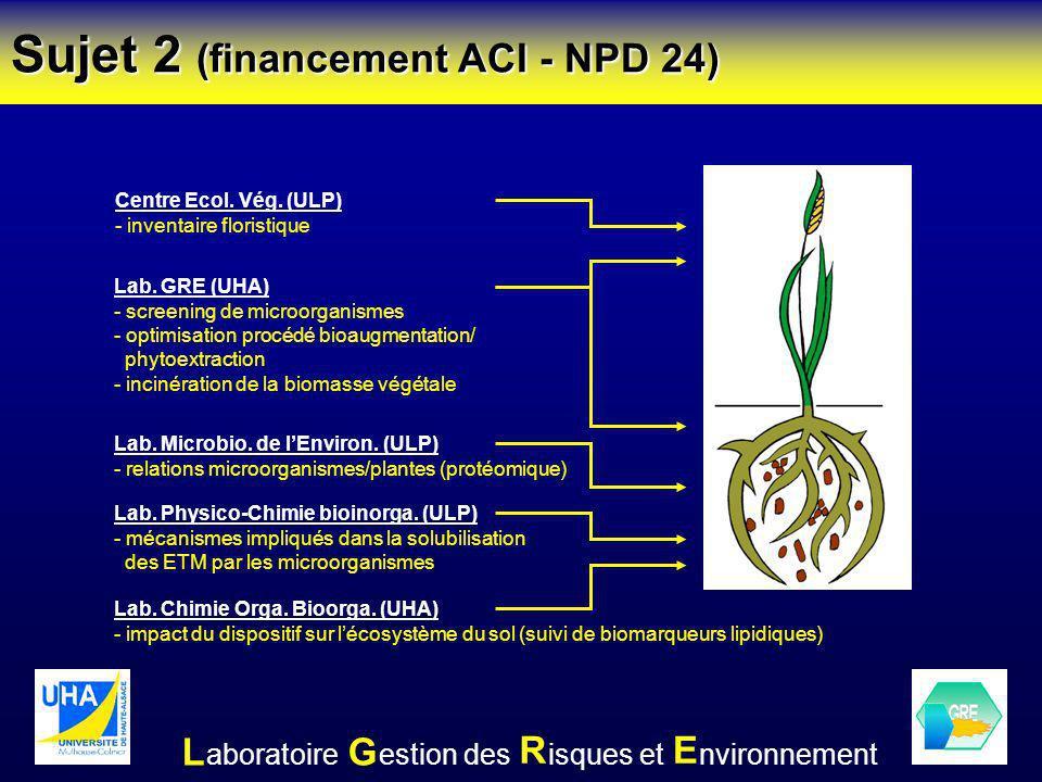 Sujet 2 (financement ACI - NPD 24)