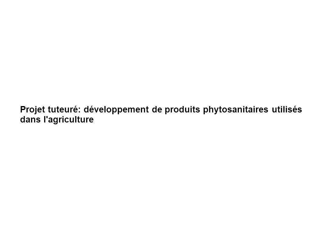 Projet tuteuré: développement de produits phytosanitaires utilisés dans l agriculture