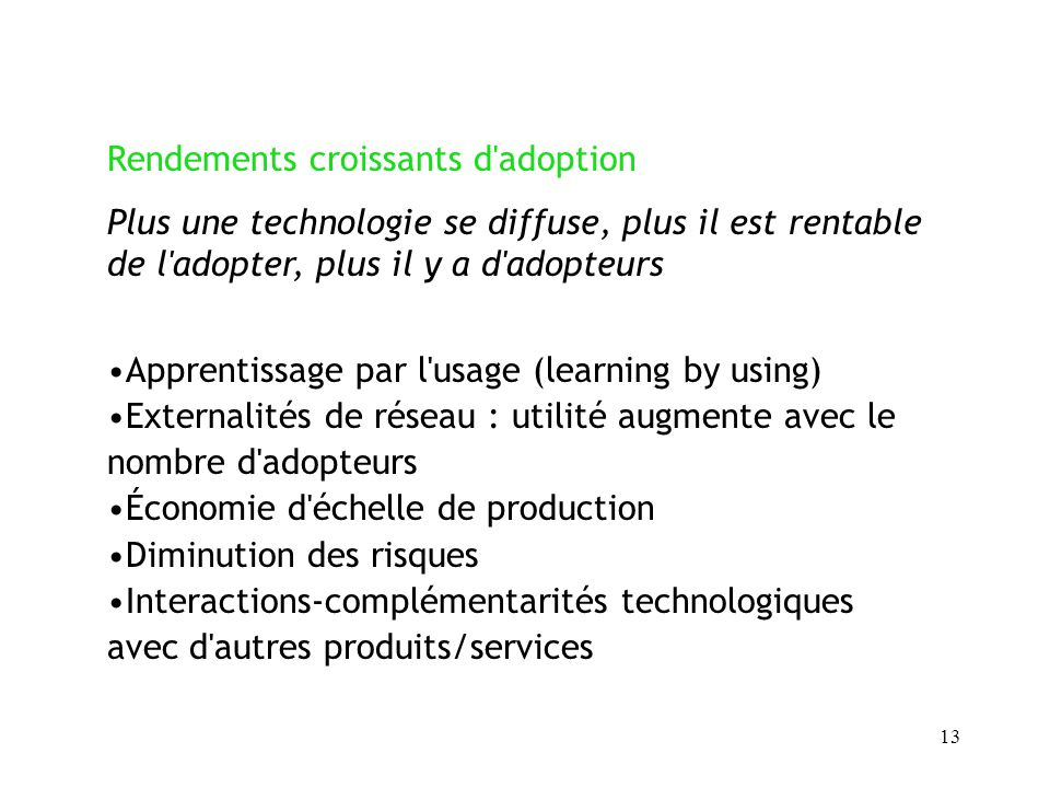 Rendements croissants d adoption