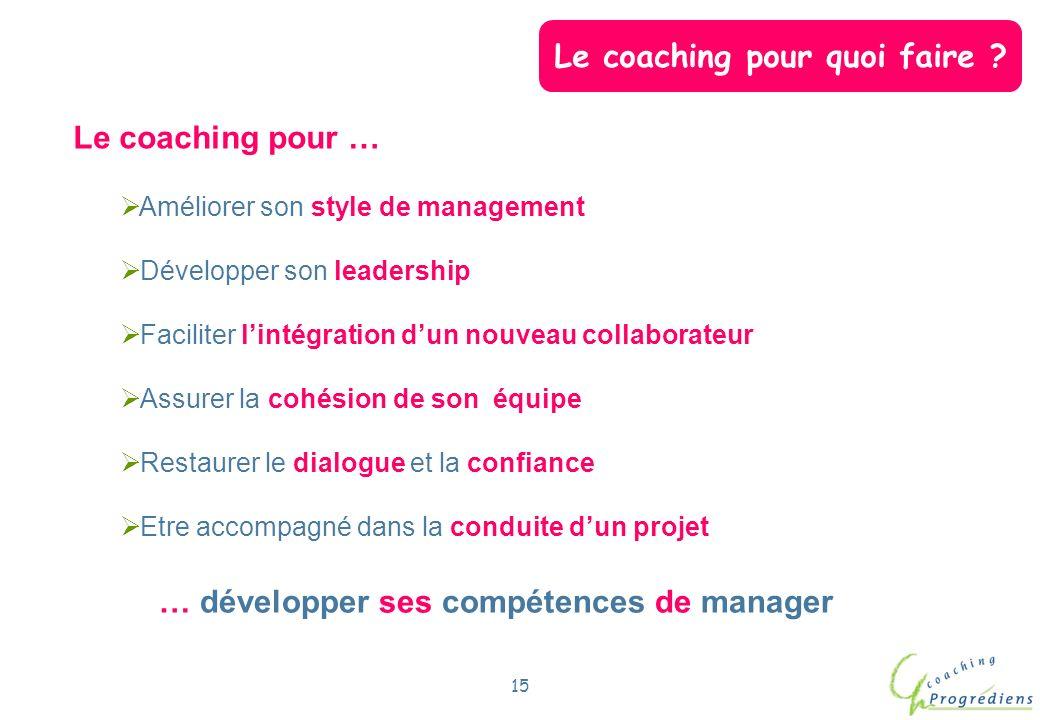 Le coaching pour quoi faire