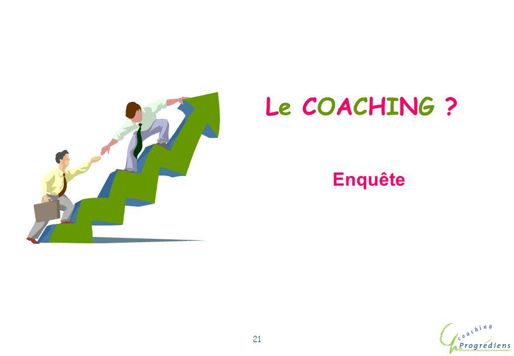 Le COACHING Enquête Com/Lil/coach/22.11.02/1