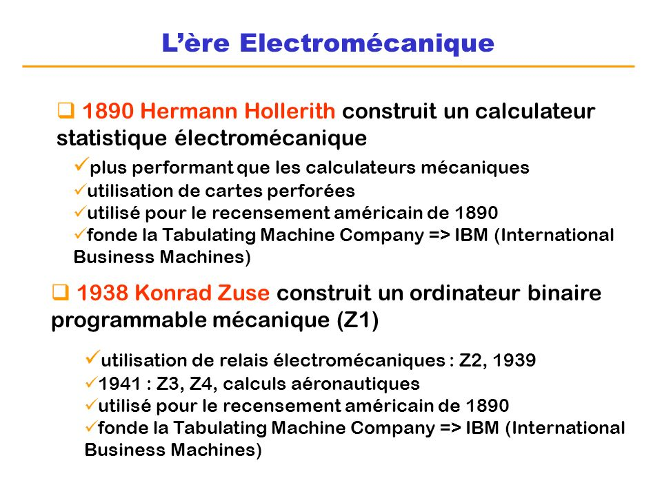 L'ère Electromécanique