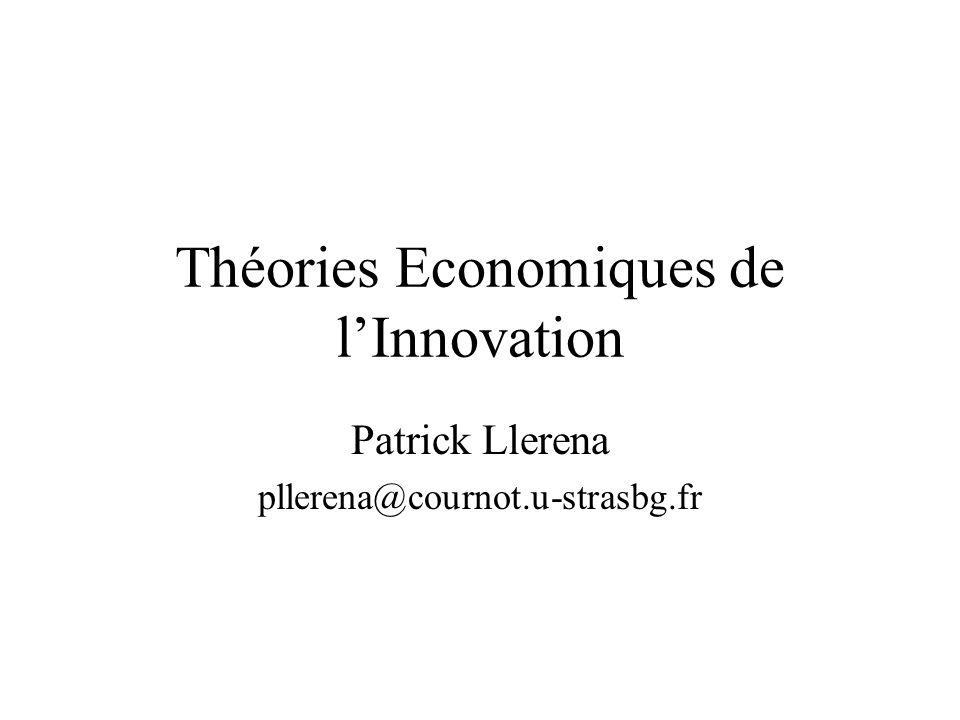 Théories Economiques de l'Innovation