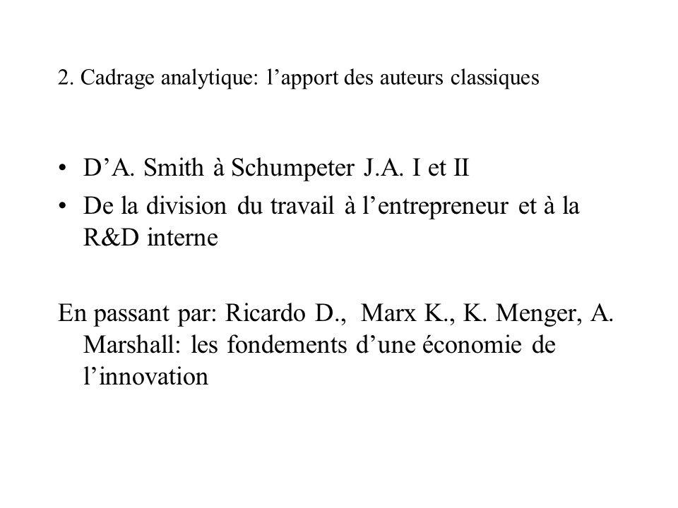 2. Cadrage analytique: l'apport des auteurs classiques