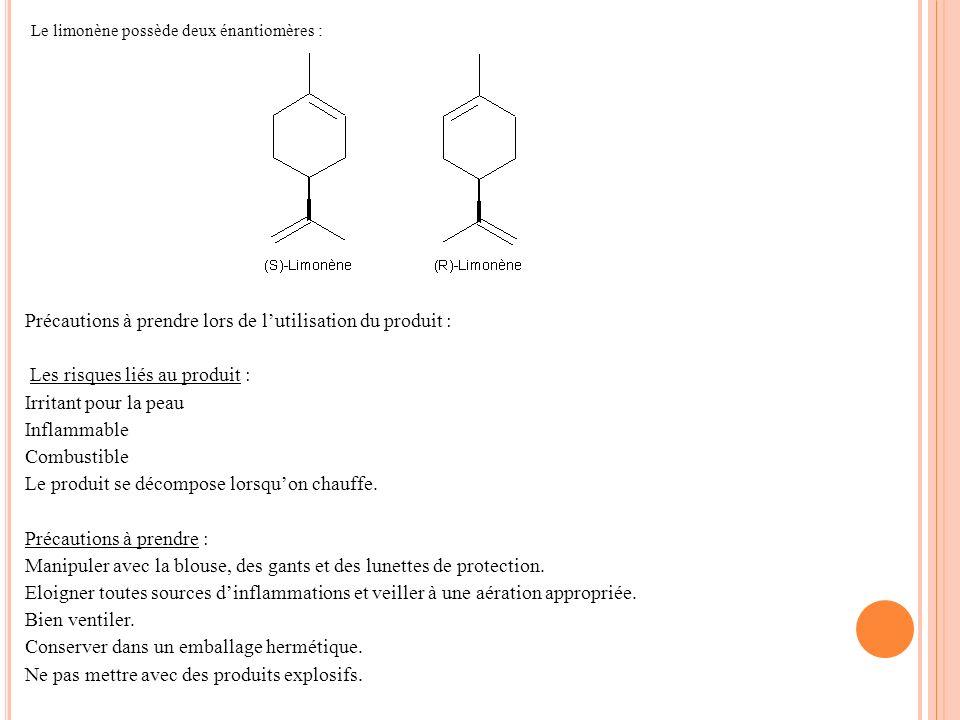 Le limonène possède deux énantiomères :