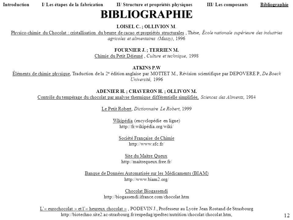 Introduction I/ Les étapes de la fabrication II/ Structure et propriétés physiques III/ Les composants Bibliographie