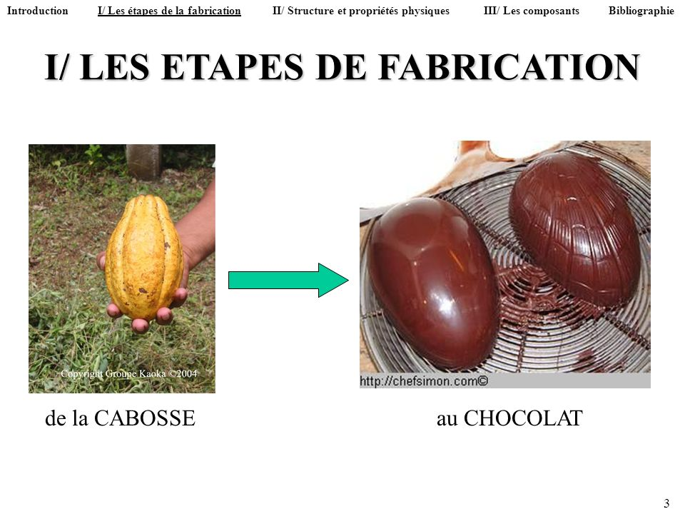 I/ LES ETAPES DE FABRICATION