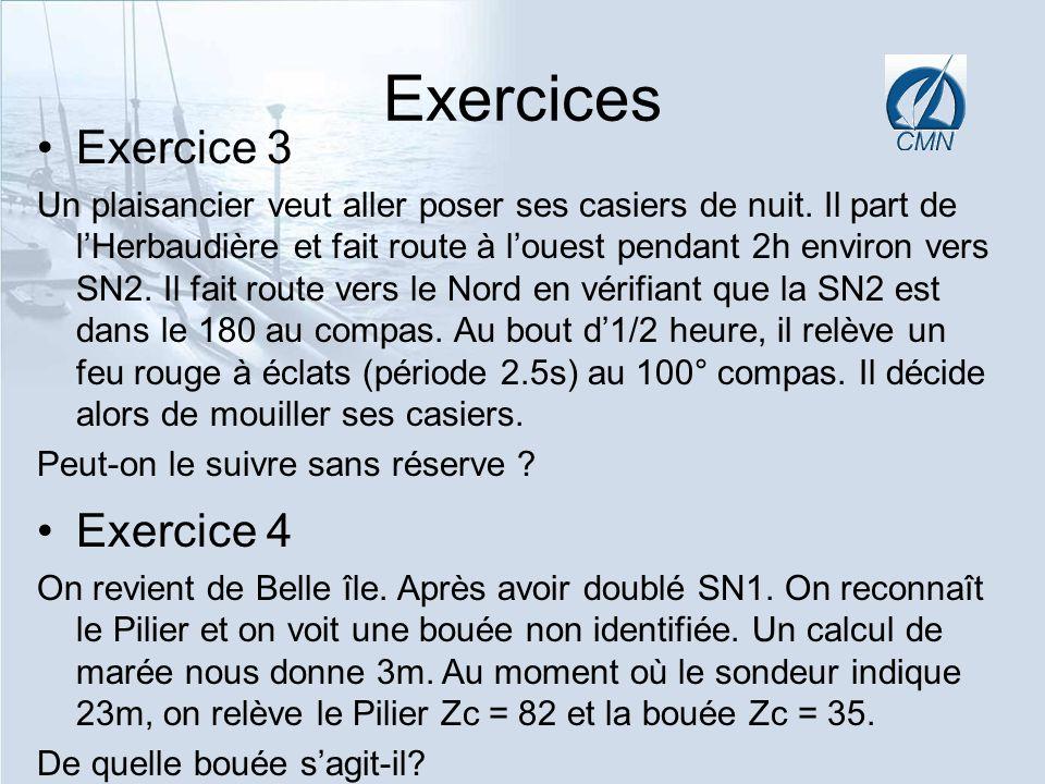 Exercices Exercice 3 Exercice 4