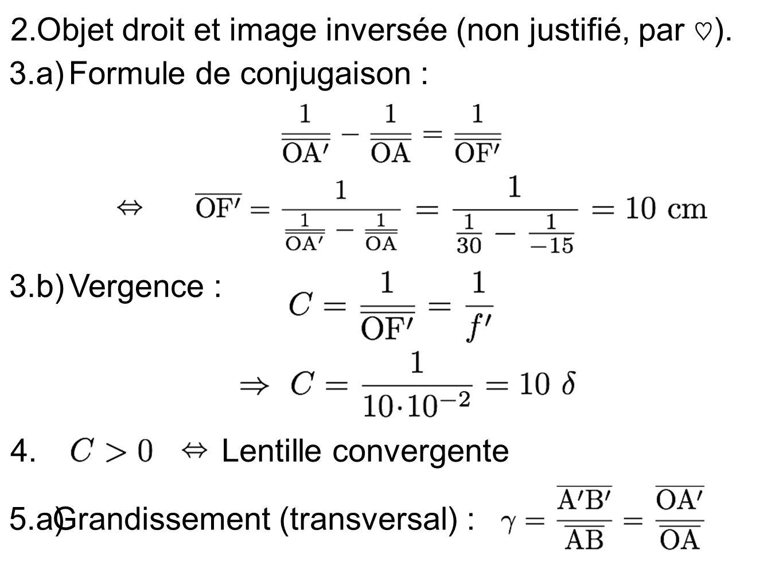 Grandissement (transversal) :