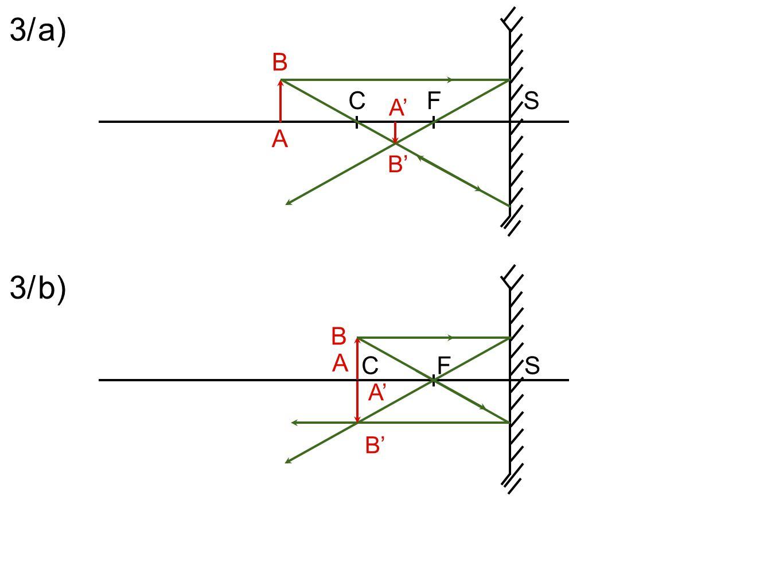 3/ a) C F S B A' B' A 3/ b) B A C F S A' B'