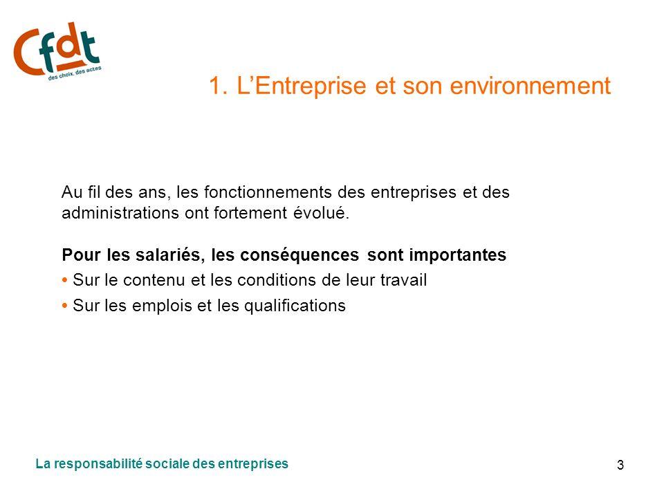 1. L'Entreprise et son environnement