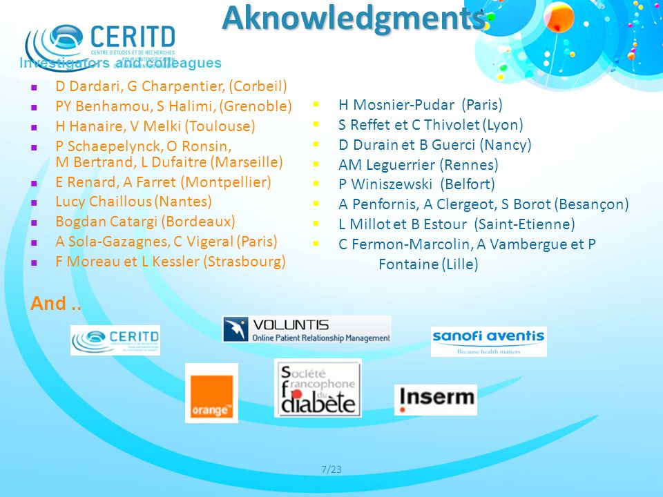 Aknowledgments And .. D Dardari, G Charpentier, (Corbeil)