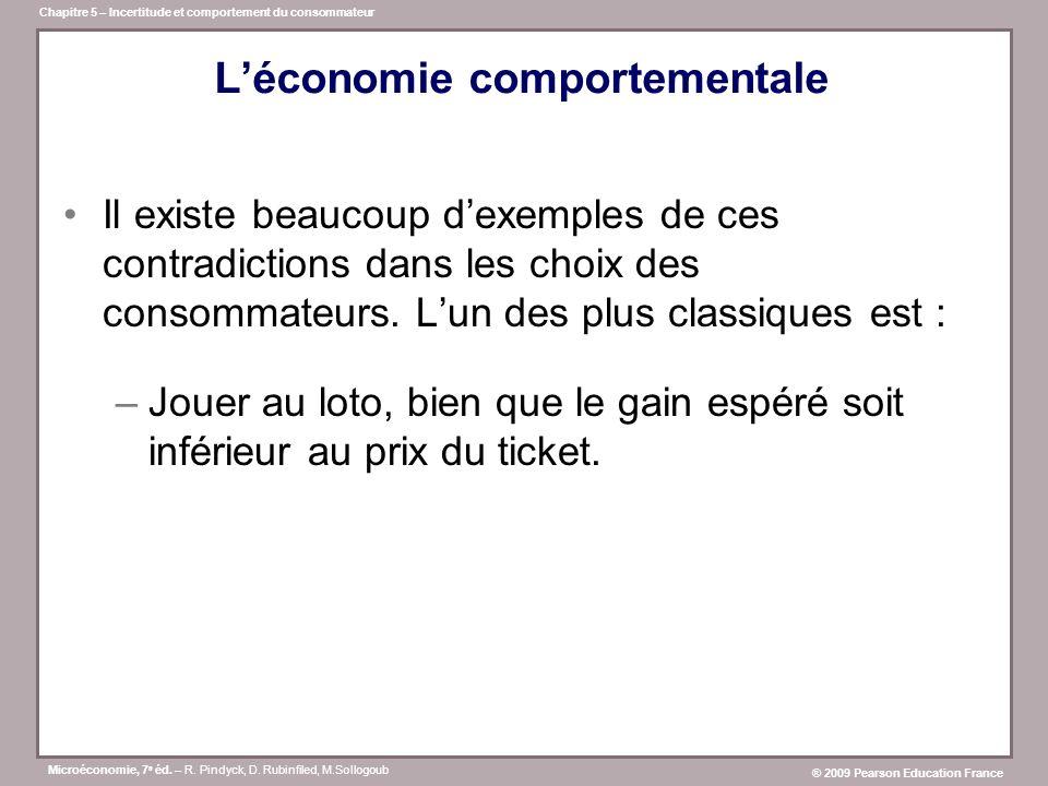 L'économie comportementale