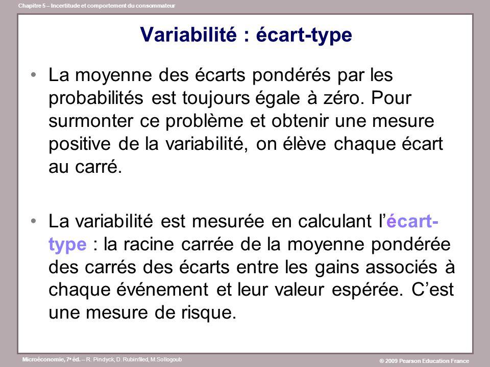 Variabilité : écart-type