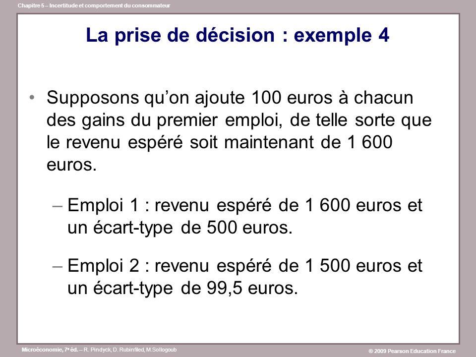 La prise de décision : exemple 4