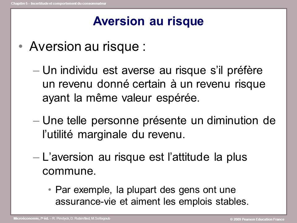 Aversion au risque : Aversion au risque