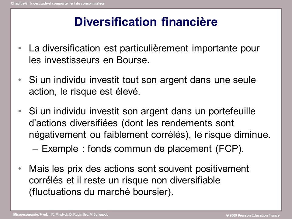 Diversification financière