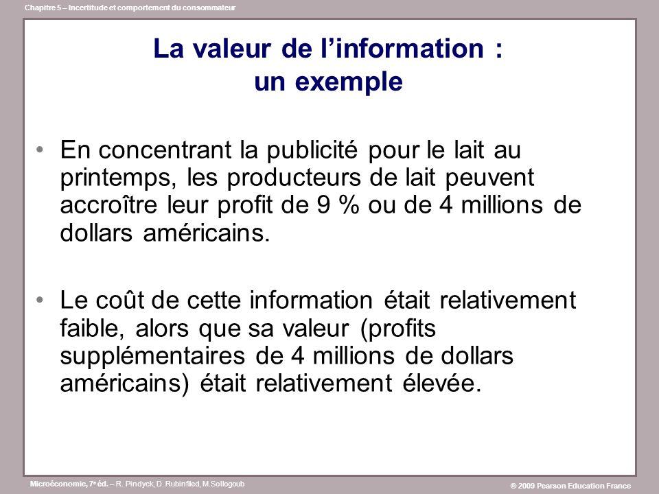 La valeur de l'information : un exemple