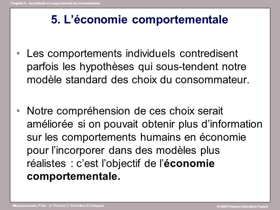 5. L'économie comportementale