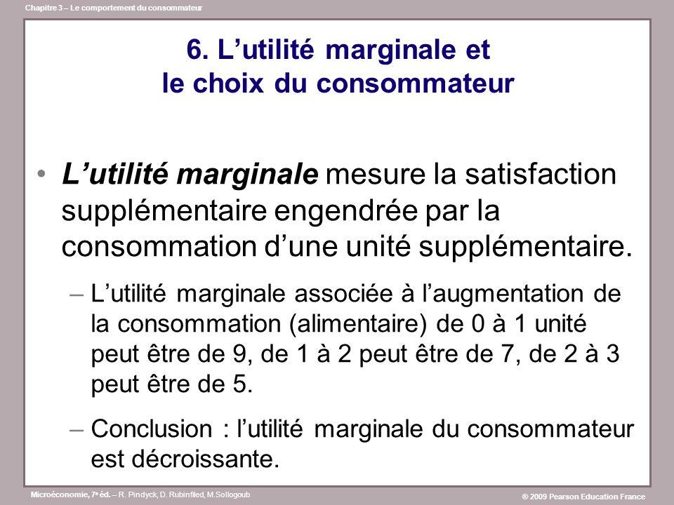 6. L'utilité marginale et le choix du consommateur