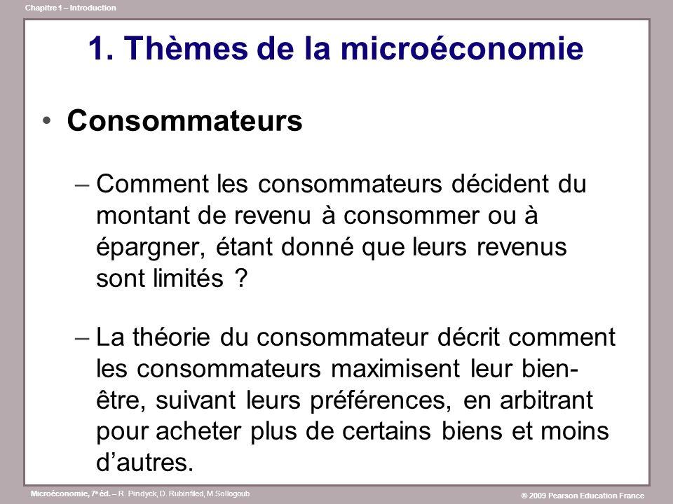 1. Thèmes de la microéconomie