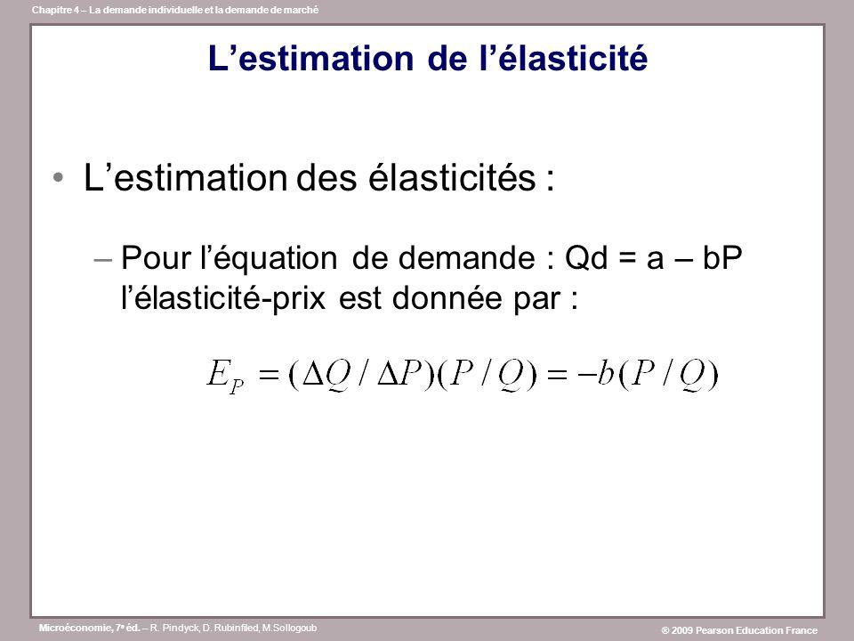 L'estimation de l'élasticité
