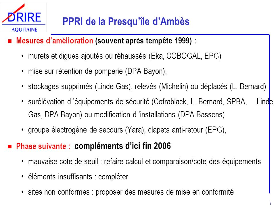 PPRI de la Presqu'île d'Ambès
