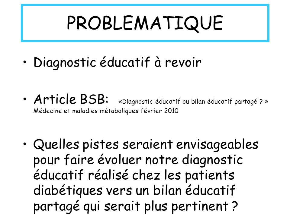 PROBLEMATIQUE Diagnostic éducatif à revoir