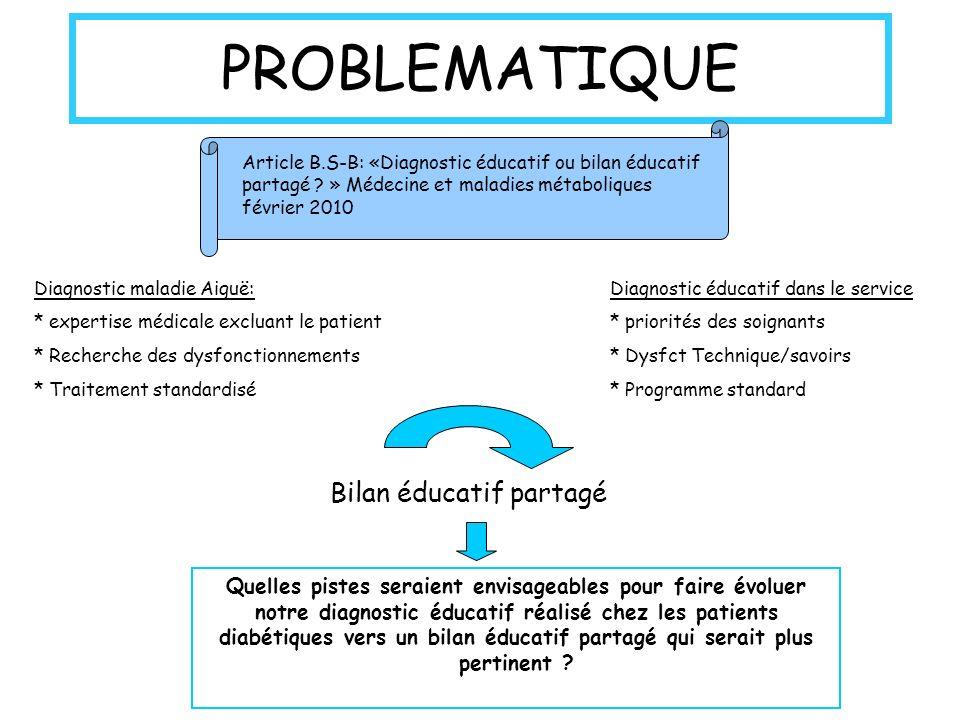 PROBLEMATIQUE Bilan éducatif partagé
