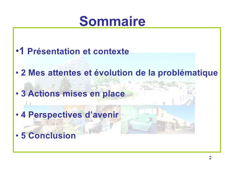 Sommaire 1 Présentation et contexte