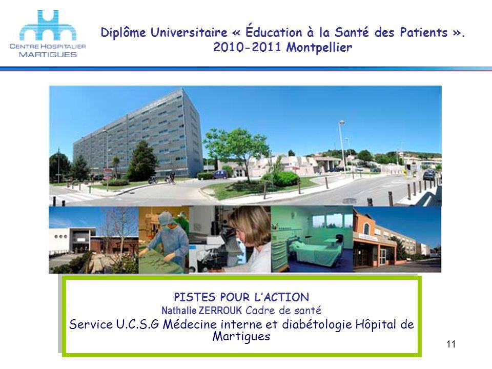 Service U.C.S.G Médecine interne et diabétologie Hôpital de Martigues