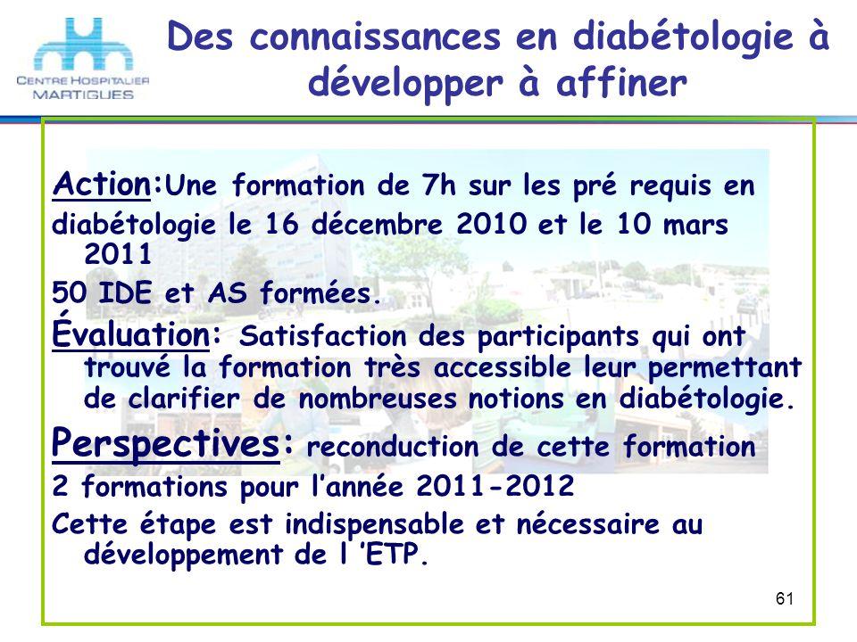 Des connaissances en diabétologie à développer à affiner