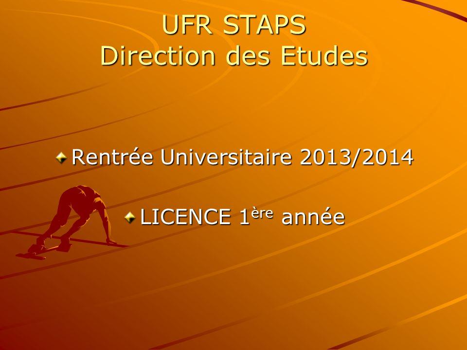 UFR STAPS Direction des Etudes