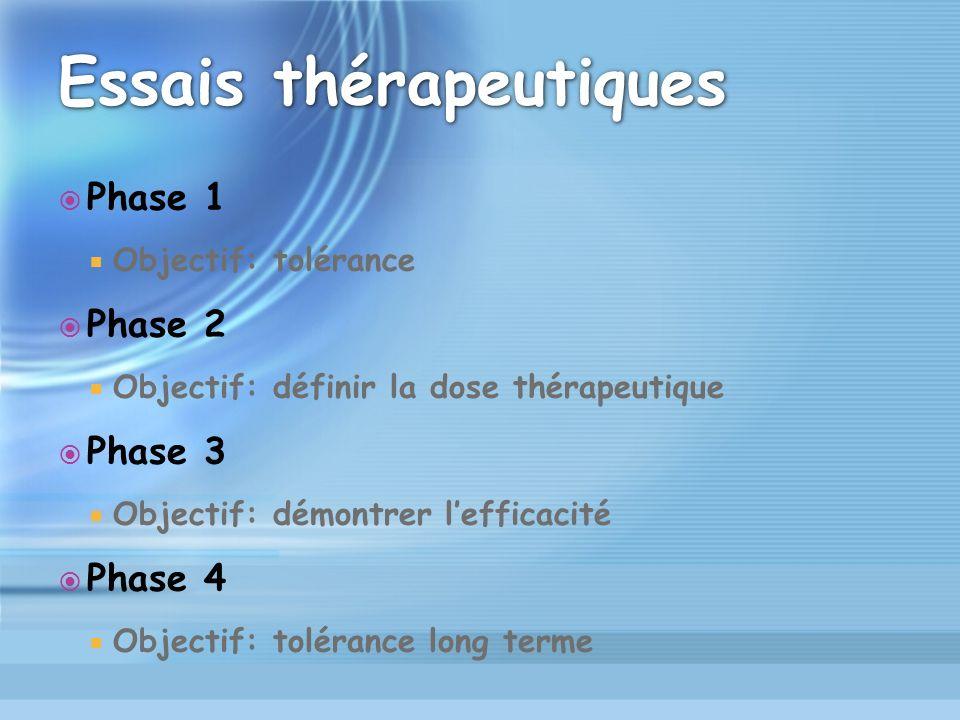 Essais thérapeutiques