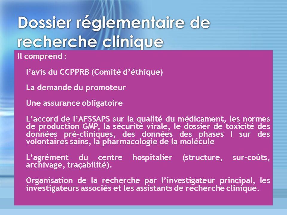 Dossier réglementaire de recherche clinique