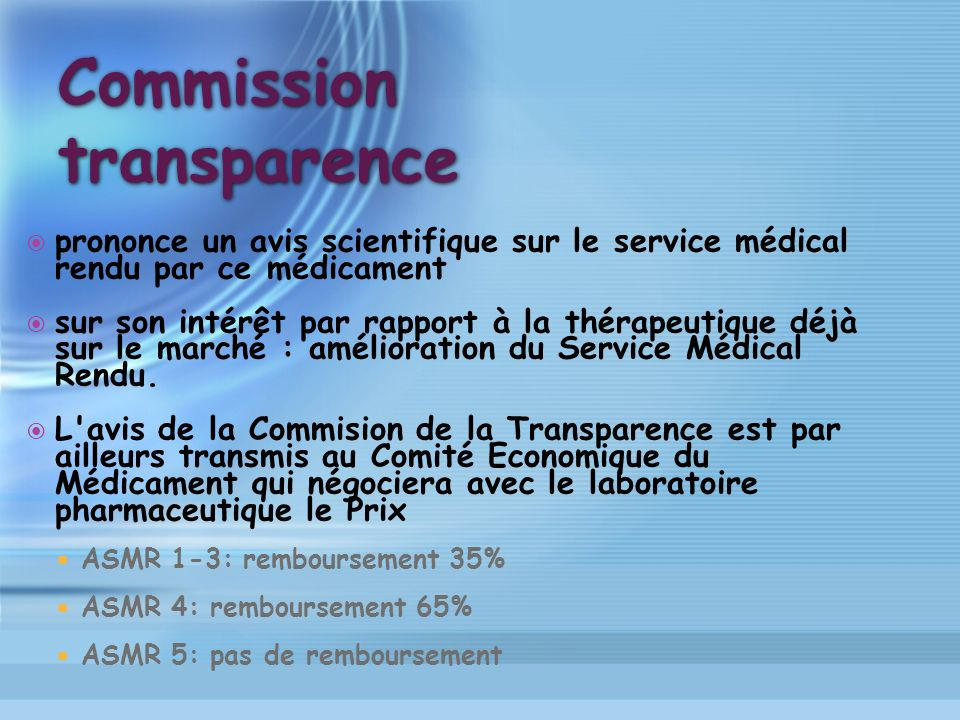 Commission transparence
