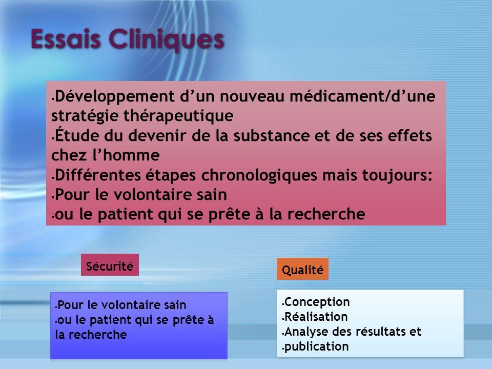 5 Essais Cliniques. Développement d'un nouveau médicament/d'une stratégie thérapeutique.