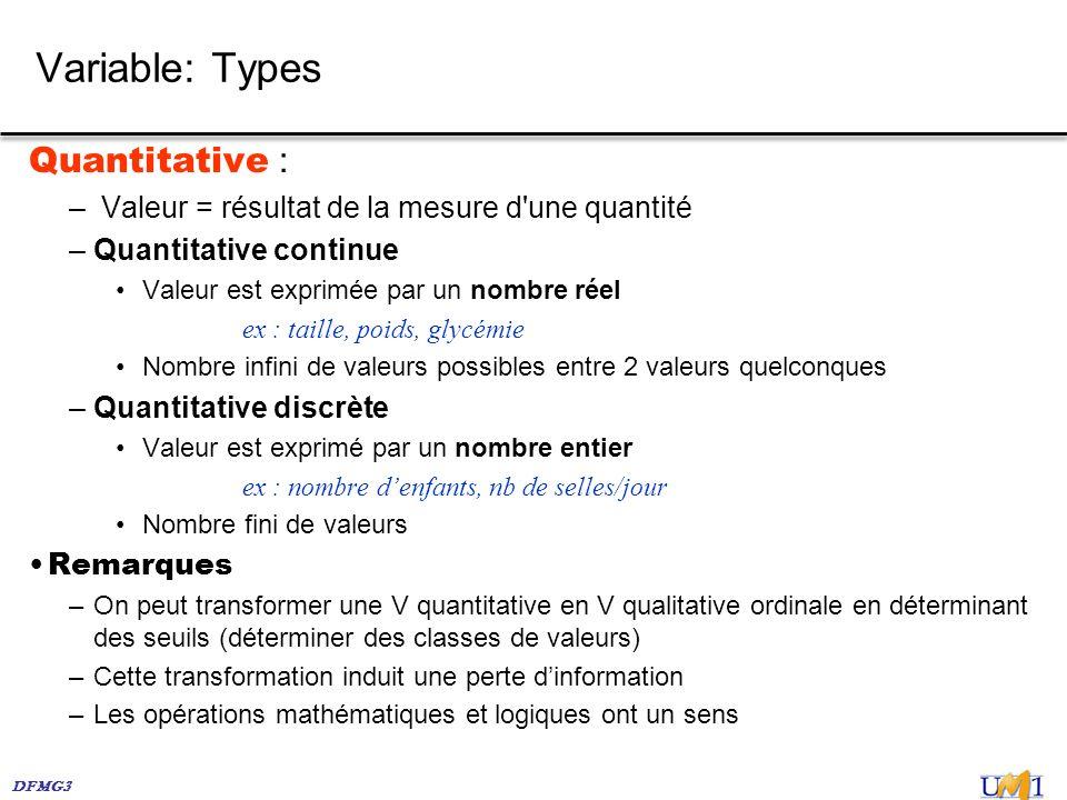 Variable: Types Quantitative :