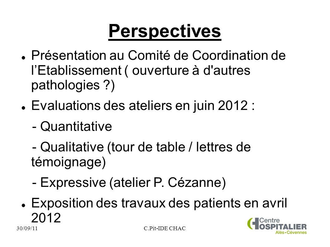 Perspectives Présentation au Comité de Coordination de l'Etablissement ( ouverture à d autres pathologies )