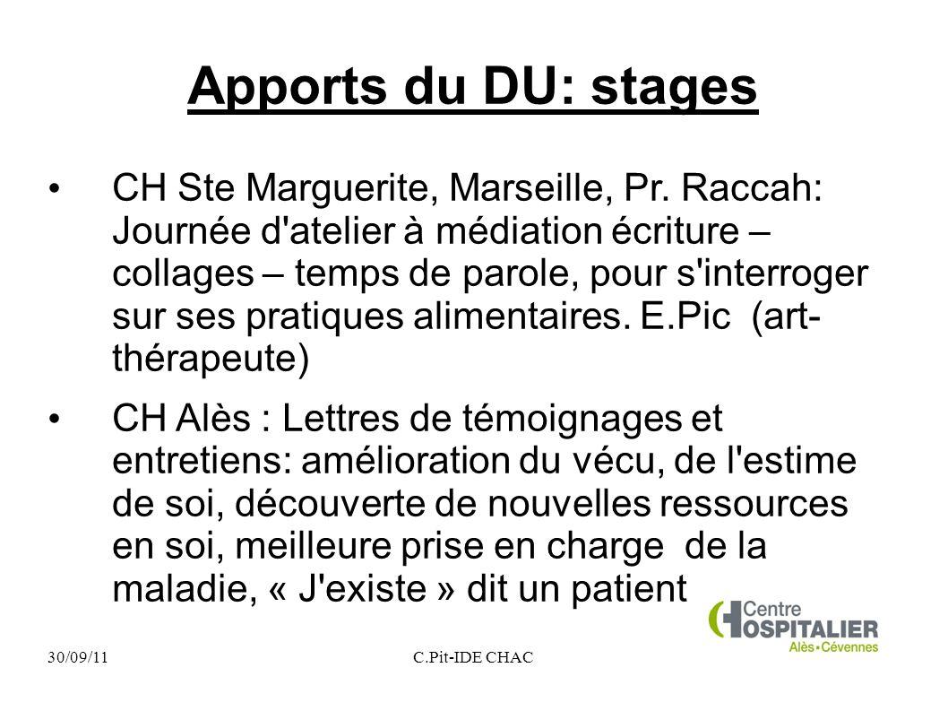 Apports du DU: stages