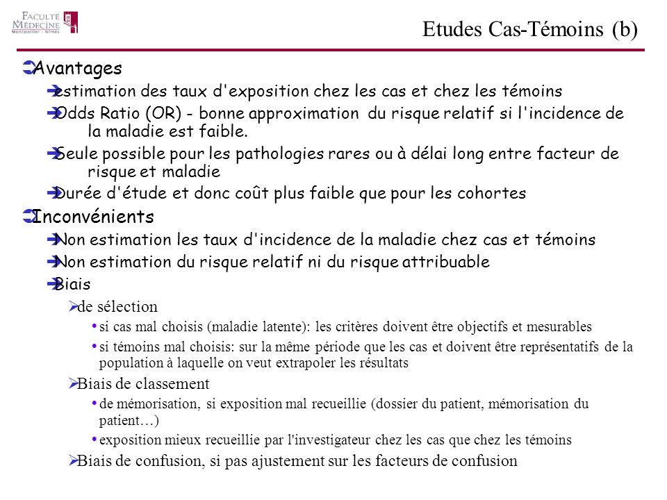 Etudes Cas-Témoins (b)
