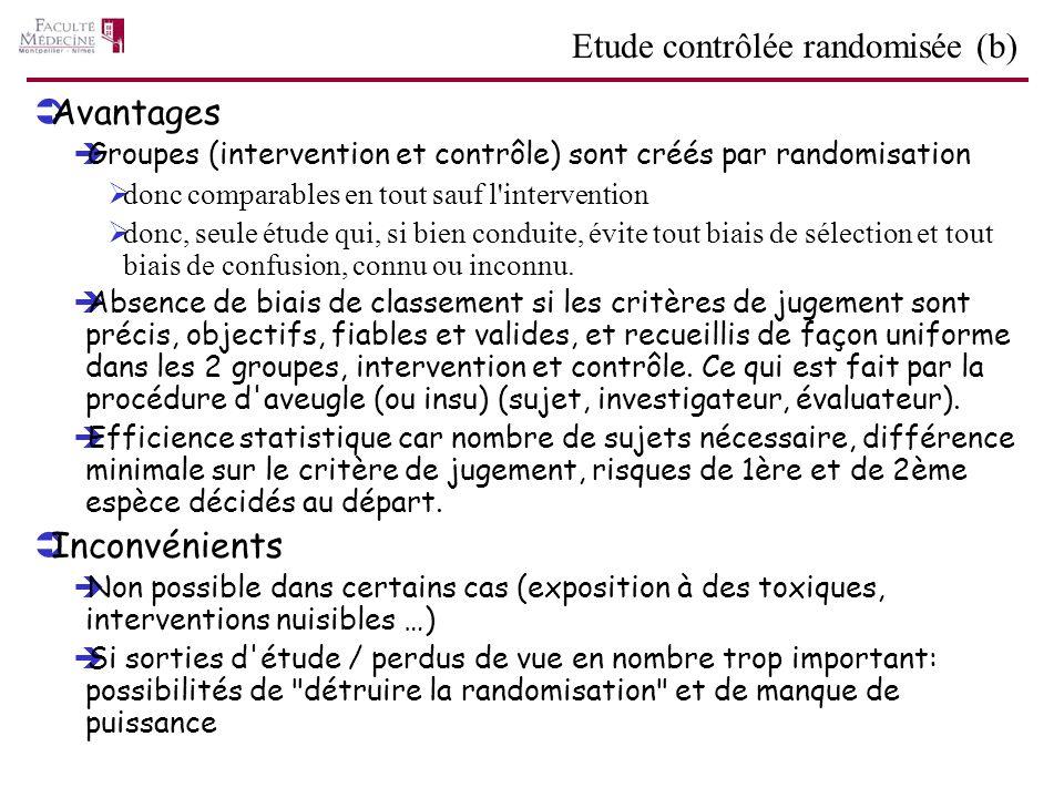 Etude contrôlée randomisée (b)