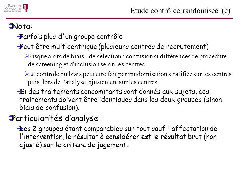 Etude contrôlée randomisée (c)