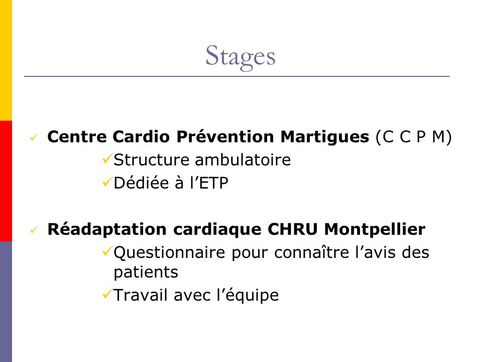 Stages Centre Cardio Prévention Martigues (C C P M)