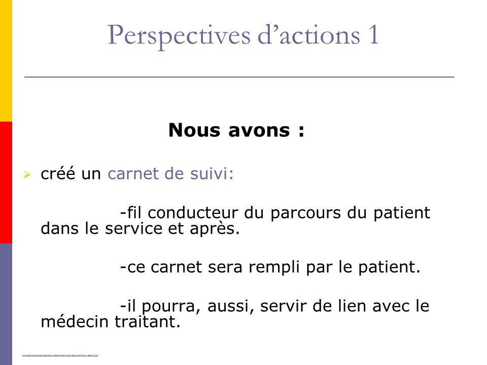 Perspectives d'actions 1
