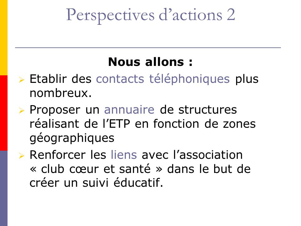 Perspectives d'actions 2