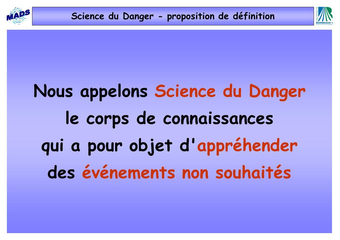 Science du Danger - proposition de définition