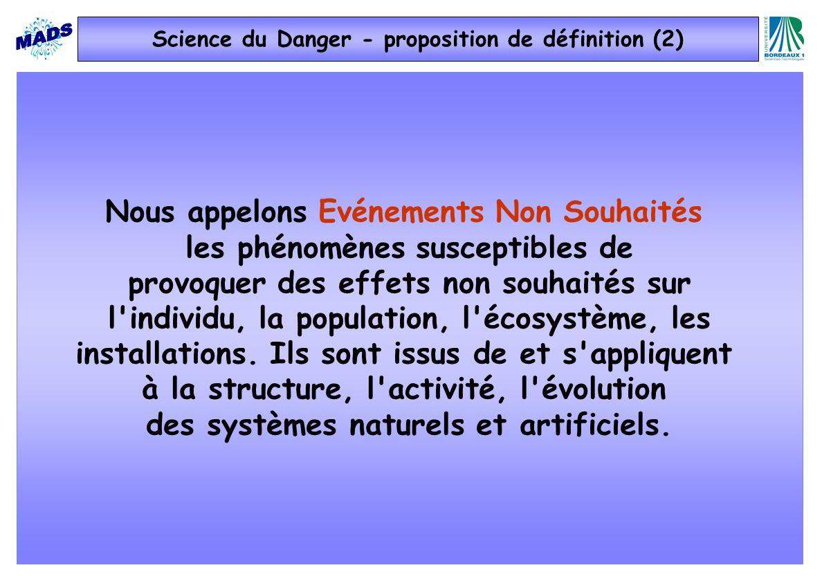 Science du Danger - proposition de définition (2)