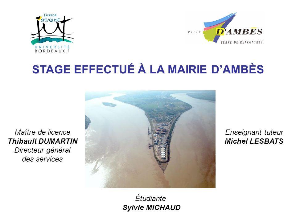 STAGE EFFECTUÉ À LA MAIRIE D'AMBÈS