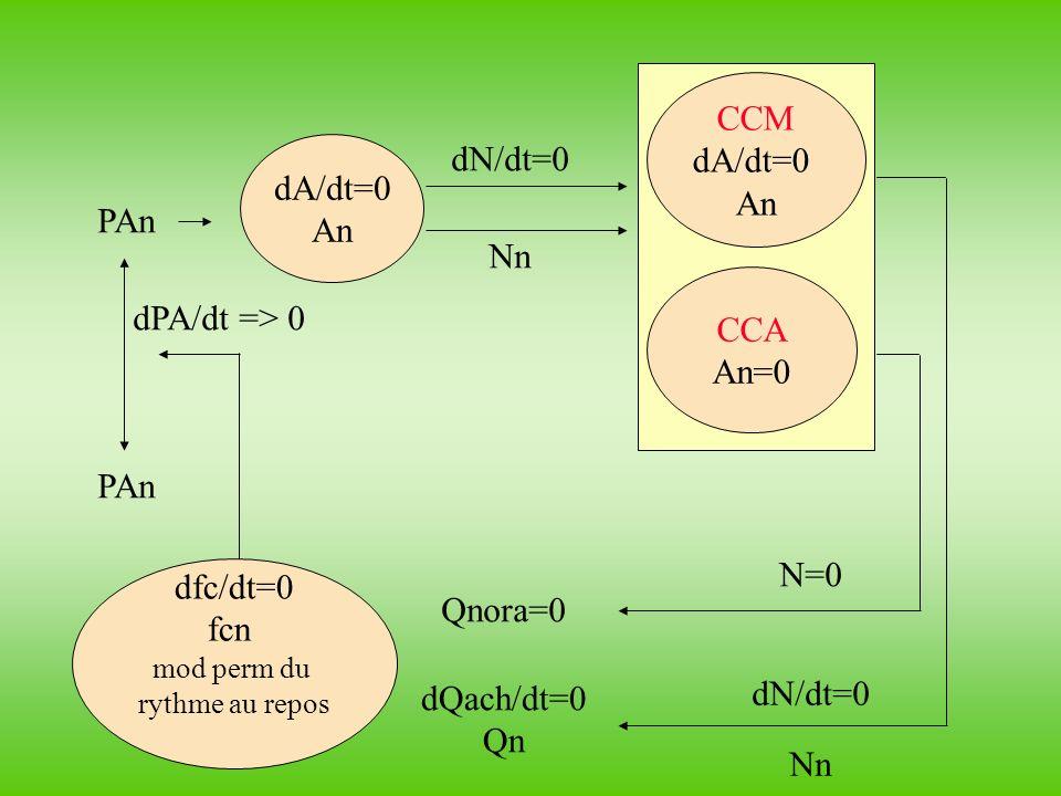 CCM dA/dt=0 An dN/dt=0 dA/dt=0 An PAn Nn CCA dPA/dt => 0 An=0 PAn
